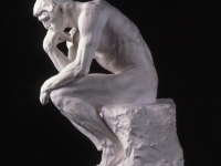 Auguste Rodin (French, 1840–1917). The Thinker, 1880. Plaster, 15