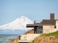 Terrace with Mount Hood in the background, Mary and Bruce Stevenson Wing. Photography Josh Partee.