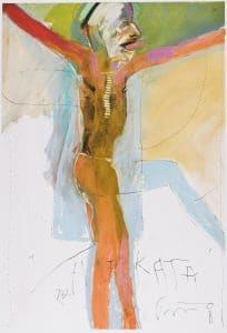 "Mélange: Works of Art on Paper from the Permanent Collection March 15–July 7, 2019 01 Rick Bartow (American [Wiyot]. 1946–2016), Hijikata, 2008, pastel and graphite on paper, 44"" x 30""; Collection of Maryhill Museum of Art"