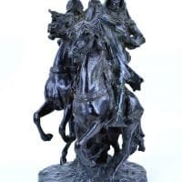 "17 Théodore Rivière (French, 1857–1912), Arab Horsemen, c. 1890s, bronze, 19½"" x 9¾"" x 13¾""; California Palace of the Legion of Honor, San Francisco"