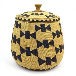 "Native People of North America March 15–November 15, 2019 21 Unknown Hupa artist, Lidded basket, early twentieth century, 12"" tall; Collection of Maryhill Museum of Art"