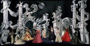 "Théâtre de la Mode March 15 2019–November 15, 2020 25 Théâtre de la Mode: ""La Grotto Enchantée"" (The Enchanted Grotto), original 1946 fashions and mannequins from set by André Beaurepaire (recreated by Anne Surgers); Collection of Maryhill Museum of Art"