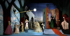 "27 Théâtre de la Mode: ""Le Jardin Marveilleux"" (The Marvelous Garden), original 1946 fashions and mannequins from set by Jean-Denis Malclès (recreated by Anne Surgers); Collection of Maryhill Museum of Art"