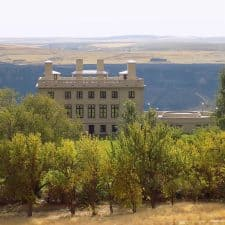 Beautiful Maryhill Museum of Art stands above the scenic Columbia River Gorge