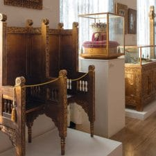 Display of Romanian Royal Palace furniture