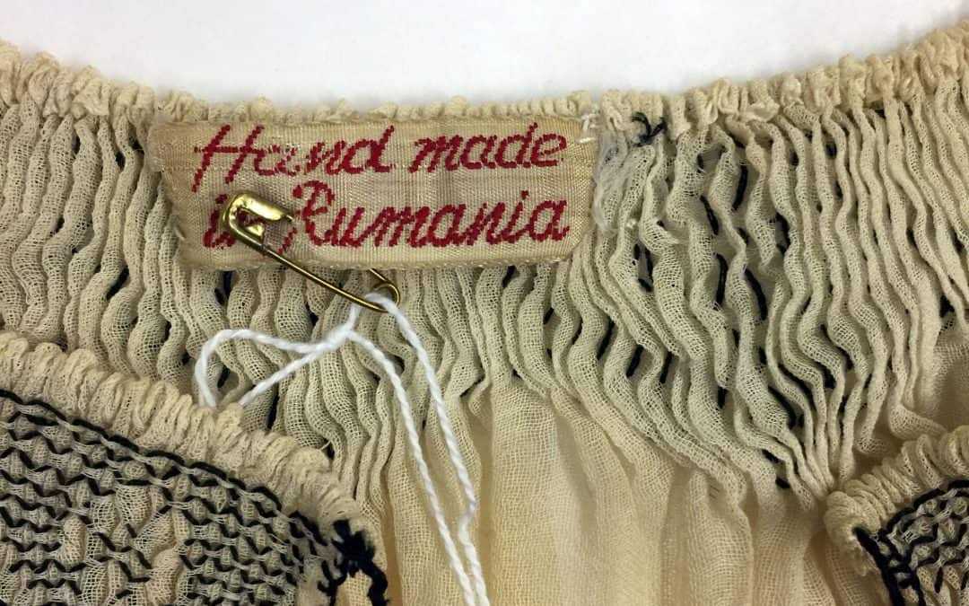 """Hand Made in Rumania"": Romanian Textiles at Maryhill Museum of Art"
