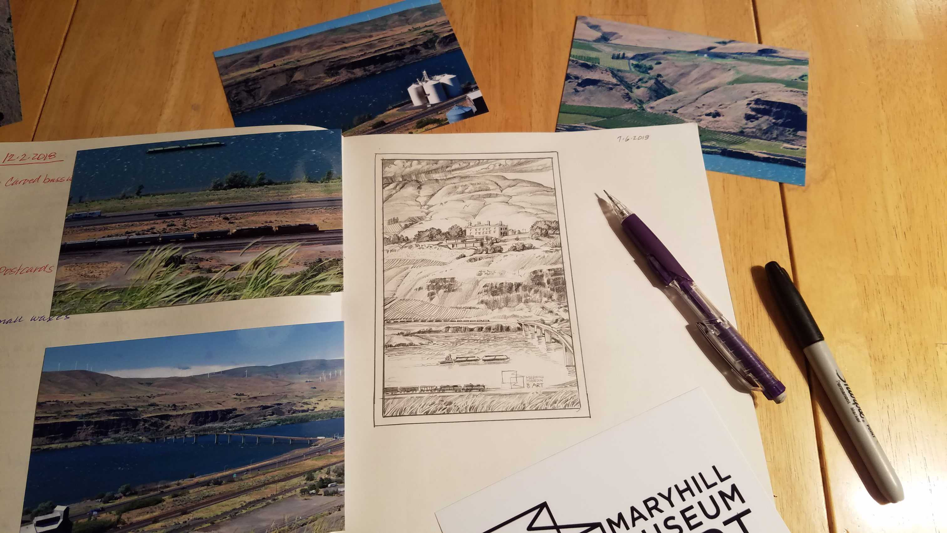 Ken Spiering Sketching for Maryhill Project